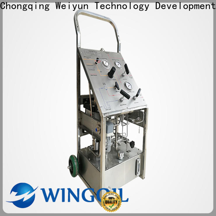 Wingoil hydrostatic pressure test plumbing manufacturers for onshore