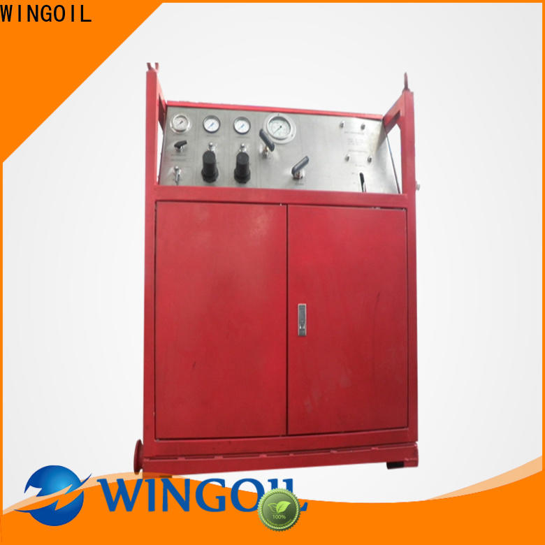 Wingoil hydrostatic test procedure for pipeline Suppliers For Gas Industry