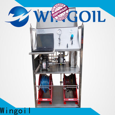 Wingoil pneumatic pressure testing safety in high-pressure for offshore