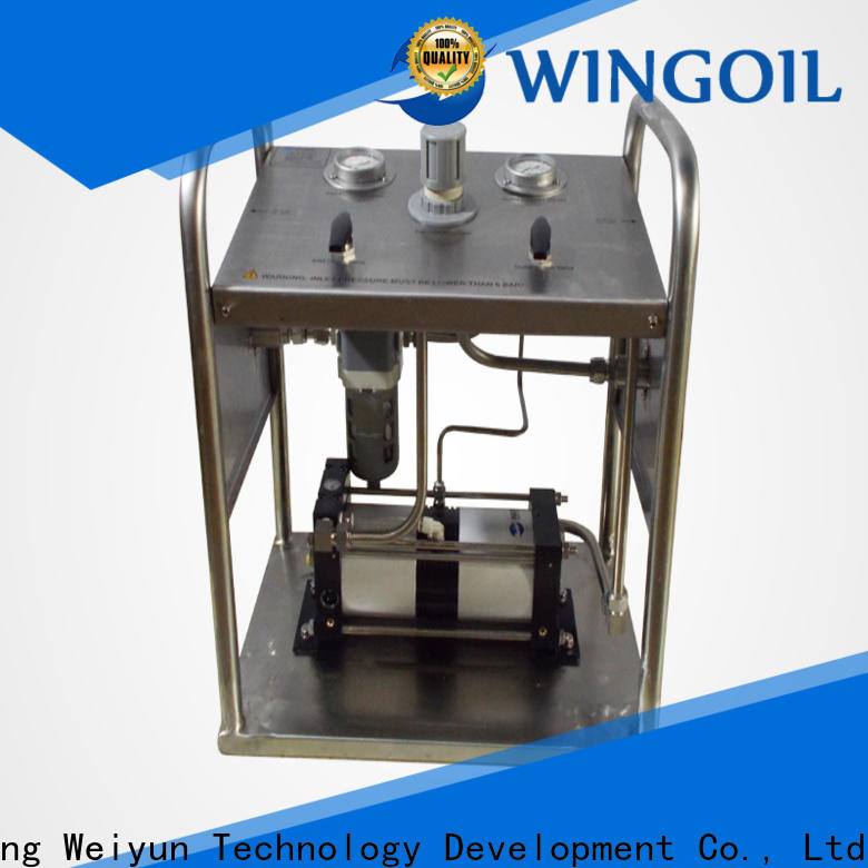 Wingoil high pressure pressure testing equipment factory For Gas Industry
