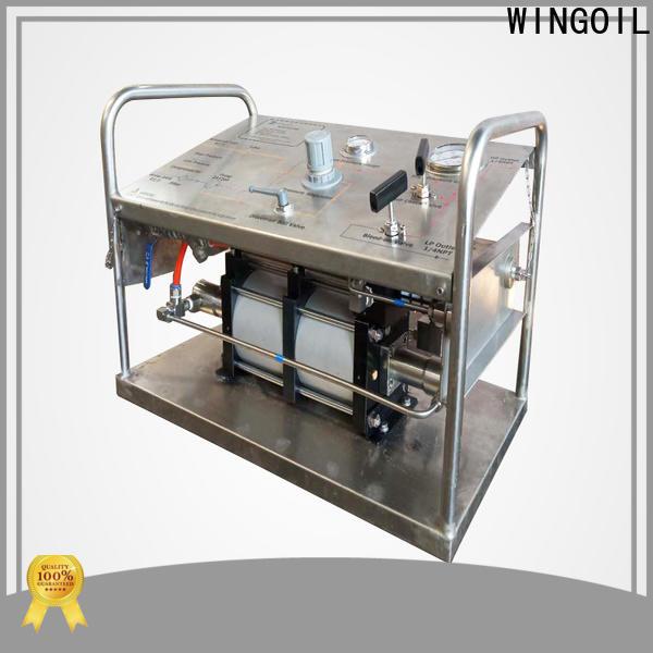 Custom hydrostatic test pump rental manufacturers for onshore