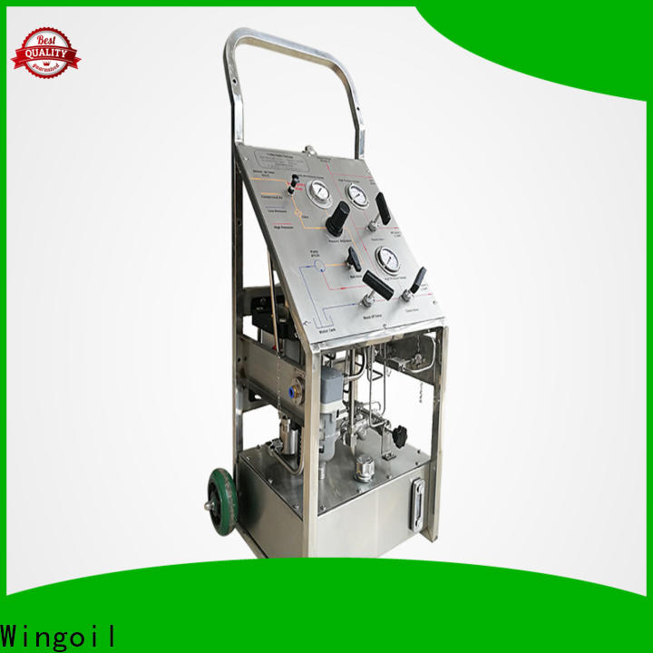 Wingoil pneumatic pressure test pump With unrivaled expertise for offshore
