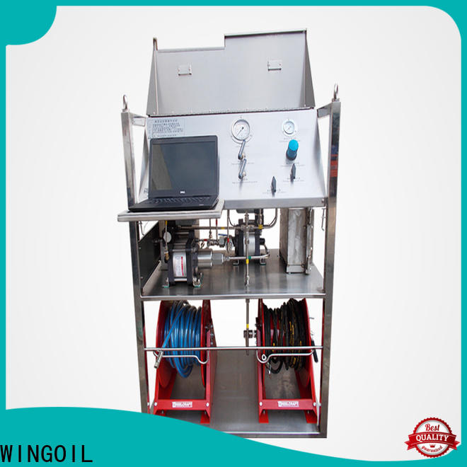 Wingoil water line pressure testing equipment With Flow Meter For Gas Industry