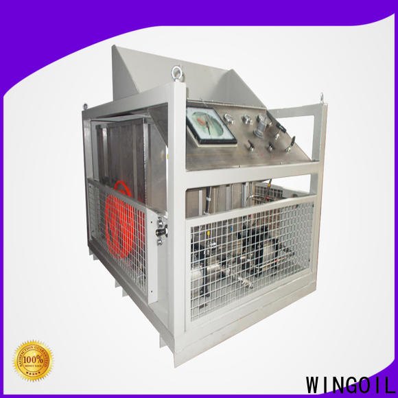 Wingoil hydraulic pressure test pump infinitely for offshore