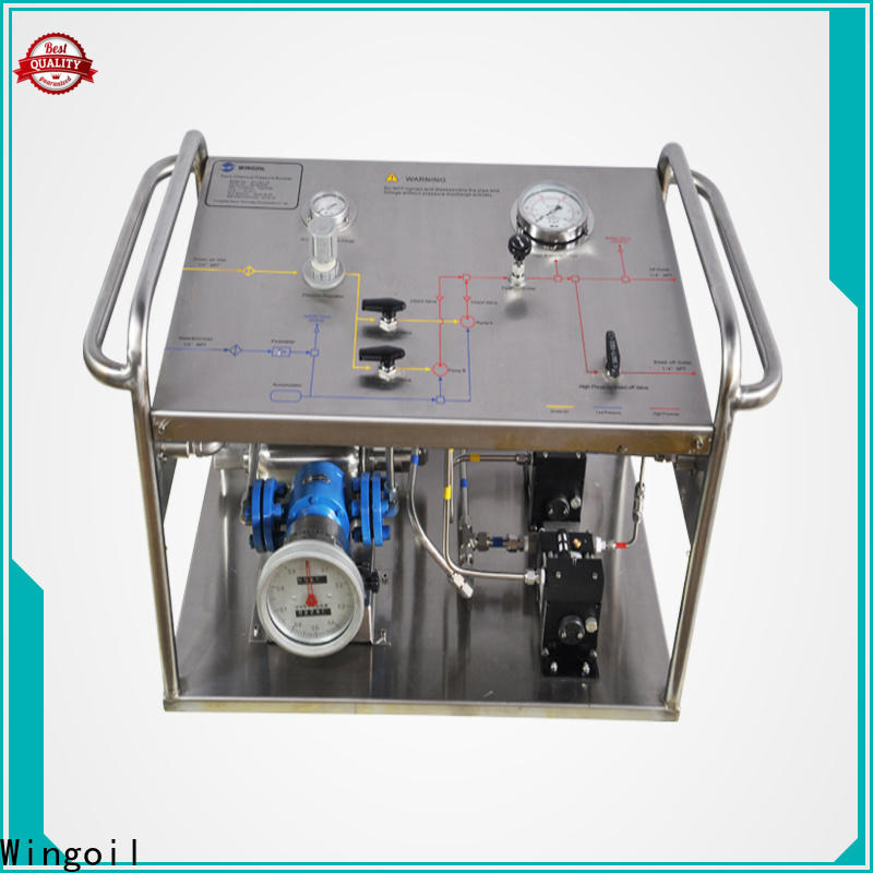 Wingoil Top electric test pump for business for offshore