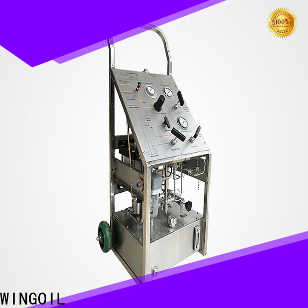 Wingoil New pump hydro test procedure in high-pressure For Gas Industry