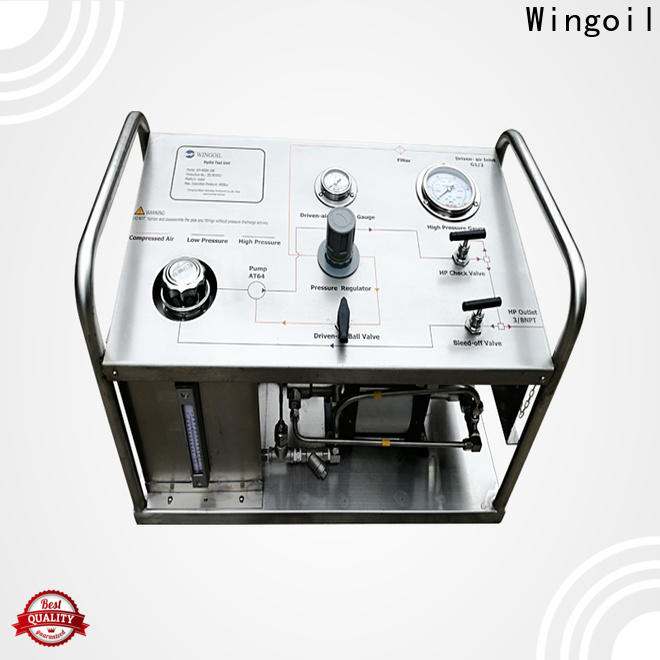 Wingoil electric hydrotest pump company For Gas Industry