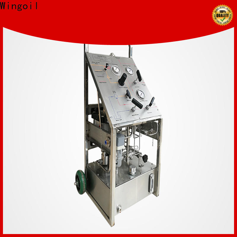 Wingoil Top electric hydraulic test pump widely used for onshore