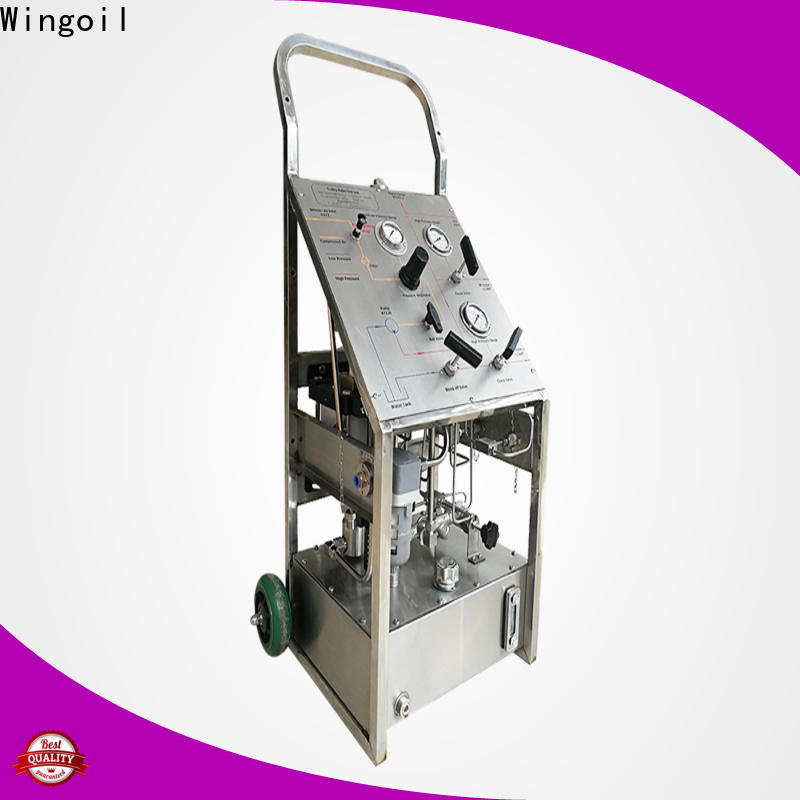 Wingoil Best hydro testing machine manufacturers Suppliers For Gas Industry