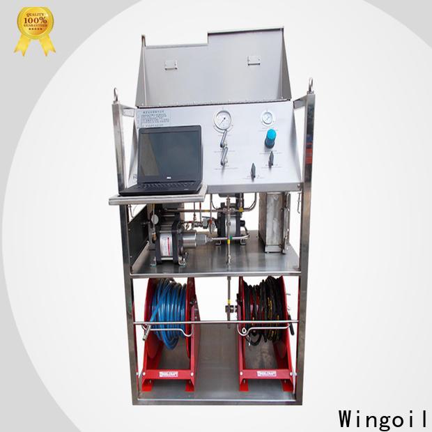 Wingoil oil testing equipment in high-pressure for onshore