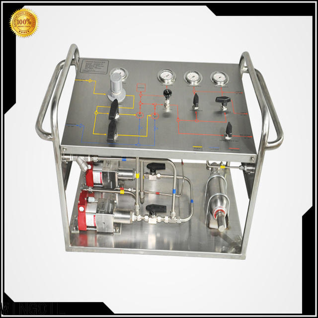 Wingoil hydraulic pressure test pump factory For Gas Industry
