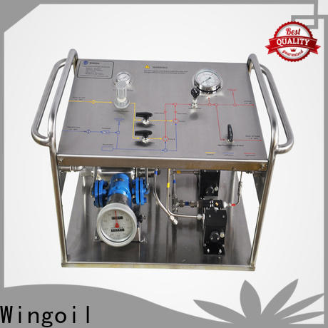 Wingoil High-quality hydrostatic pressure test plumbing factory For Gas Industry