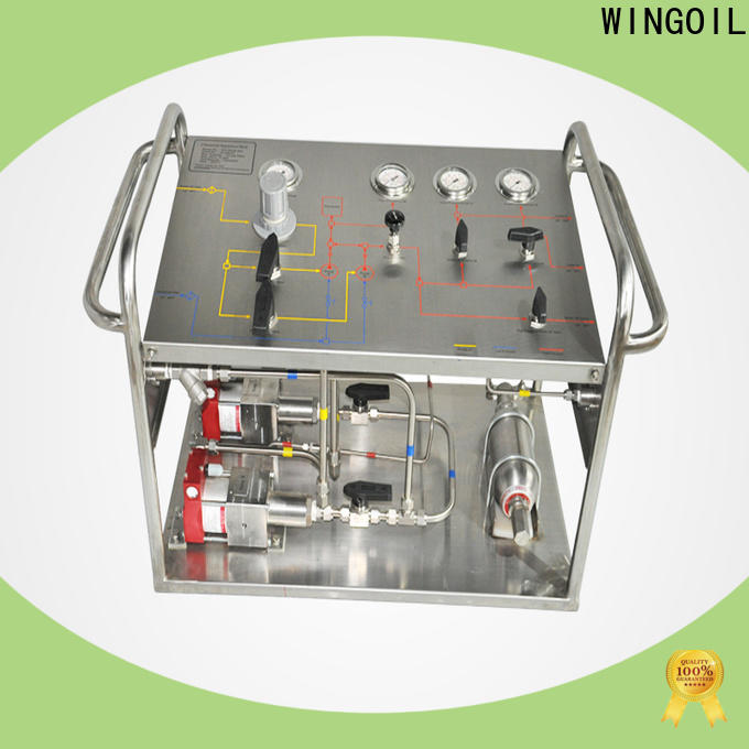 Wingoil High-quality hydrostatic water test manufacturers For Gas Industry