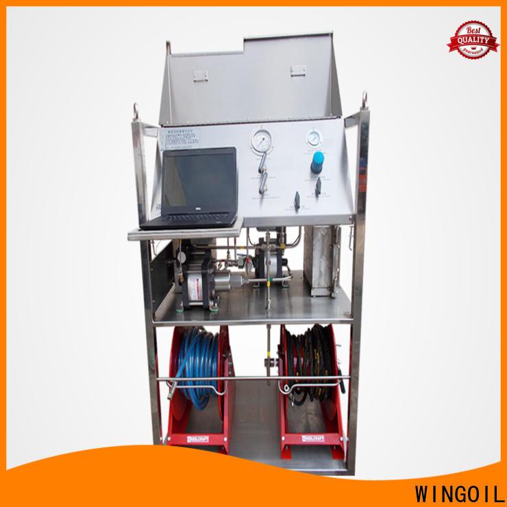Wingoil hydrostatic pressure testing equipment company for onshore