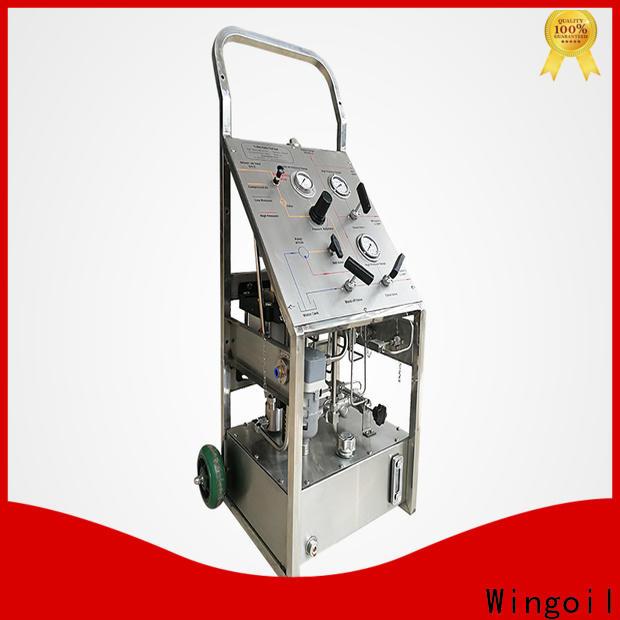 Wingoil hydraulic pressure tester company for onshore