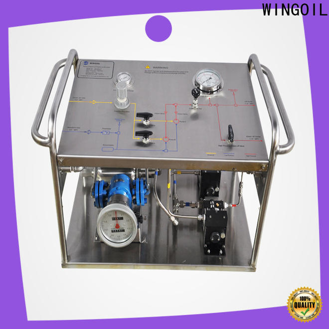 Wingoil pipe pressure test pump manufacturers For Oil Industry