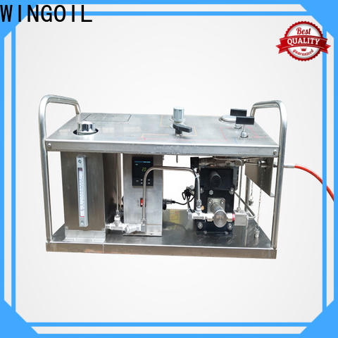 Wingoil hydrotest equipment list in high-pressure for offshore