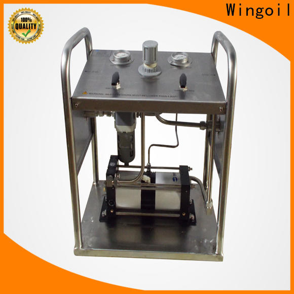Wingoil pressure test pump hand operated in high-pressure For Gas Industry