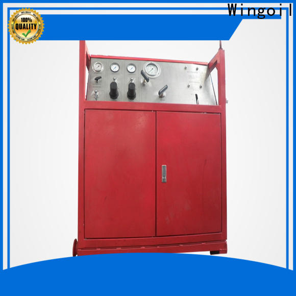 Wingoil water pressure testing equipment company for onshore