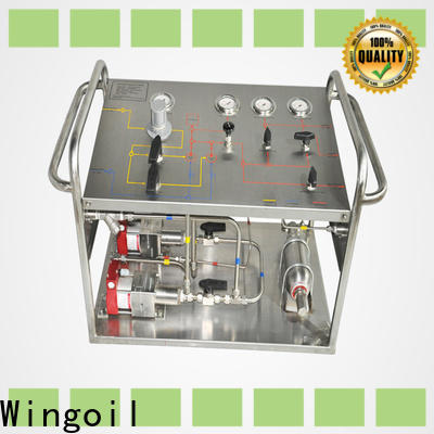 Wingoil hydrostatic tester for sale company For Gas Industry