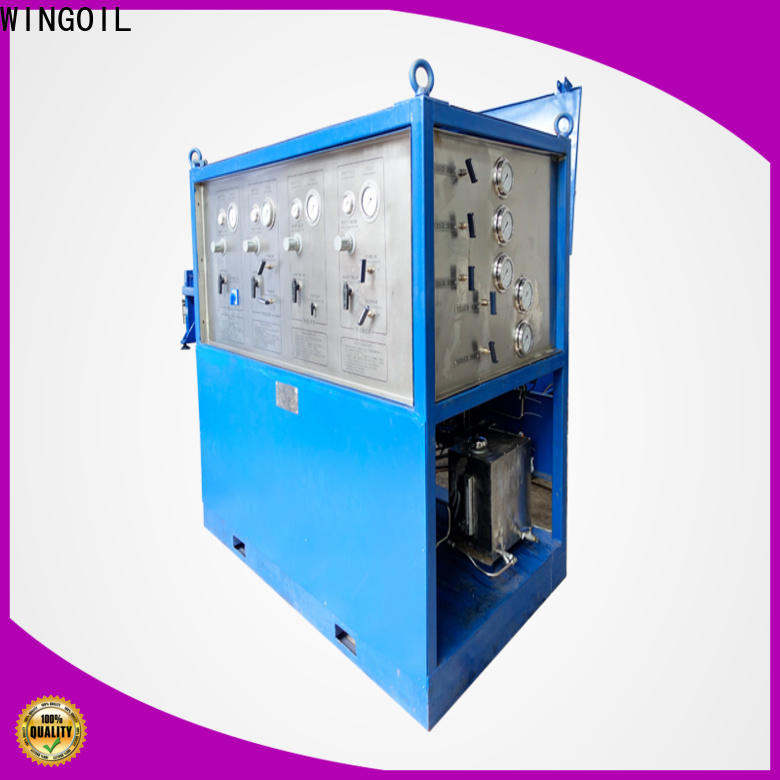 Wingoil Best valve pressure testing equipment company For Gas Industry