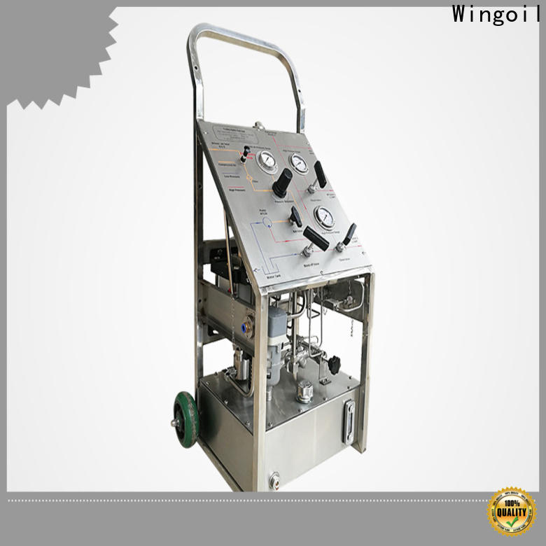 Wingoil pneumatic test pump manufacturers for onshore