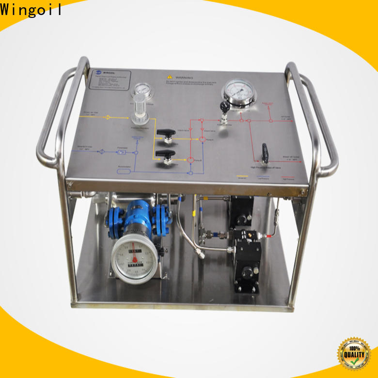 Wingoil New hydraulic test infinitely for offshore