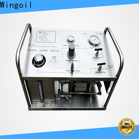 Wingoil hydrostatic pressure testing equipment for sale widely used For Gas Industry
